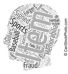 Are Your Sports Memorabilia Faux Or text background...