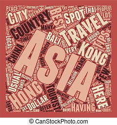 Asia Safety Travel Tips text background wordcloud concept