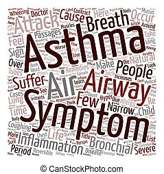 Asthma and Its Symptoms text background wordcloud concept