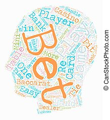 Baccarat Made Easy text background wordcloud concept