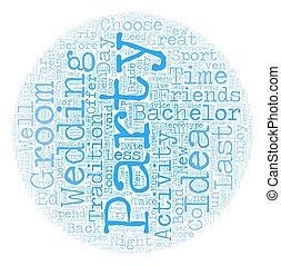 Bachelor Party Ideas text background wordcloud concept