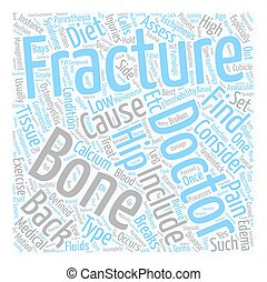 Back Pain and Fractures text background wordcloud concept