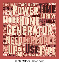 backup power home energy generator and sustainable 1 text background wordcloud concept