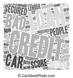 Bad Credit Car Loans An Unbelievable Opportunity text...