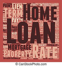 Basic Home Loan Terms Explained text background wordcloud...
