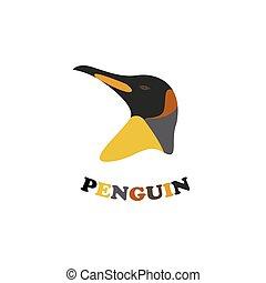 King penguin logo.