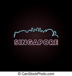 Singapore skyline neon