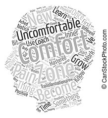 Become Comfortable with the Uncomfortable text background...