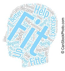 Become Healthier Become Fitter text background wordcloud...