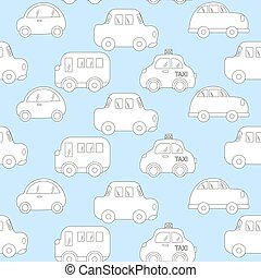 baby background for boys. Vector of Transportation blue car...