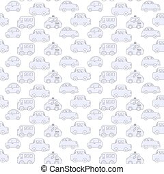 Seamless pattern - car, truck baby background for boys....