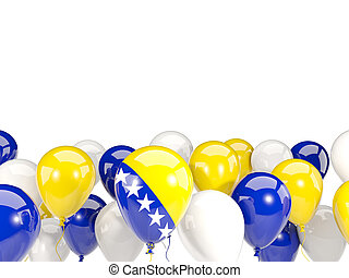 Flag of bosnia and herzegovina with balloons - Flag of...