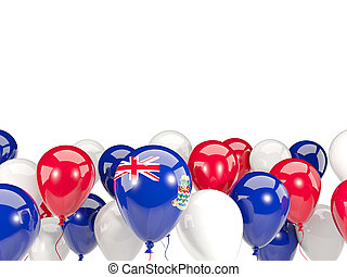 Flag of cayman islands with balloons - Flag of cayman...