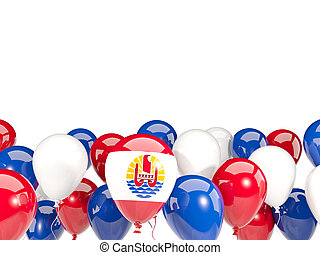 Flag of french polynesia with balloons - Flag of french...