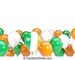 Flag of ireland with balloons