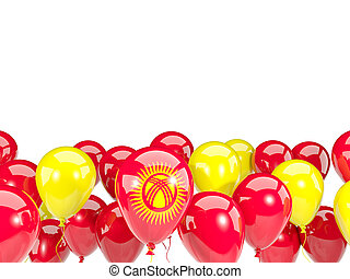 Flag of kyrgyzstan with balloons - Flag of kyrgyzstan, with...