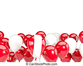 Flag of peru with balloons