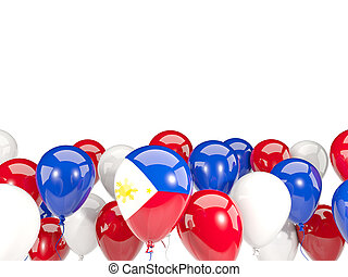 Flag of philippines with balloons - Flag of philippines,...