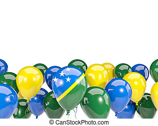 Flag of solomon islands with balloons - Flag of solomon...