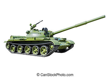 Russian Tank T-62. Isolated on white background