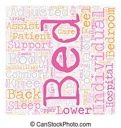 Benefits Of An Adjustable Bed text background wordcloud...