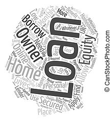 Benefits of Home Owner loan Find out what it holds for you text background wordcloud concept