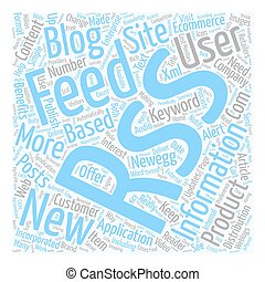 Benefits Of Rss In Ecommerce text background wordcloud...