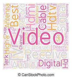 best hdtv text background wordcloud concept