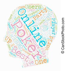best online poker room text background wordcloud concept