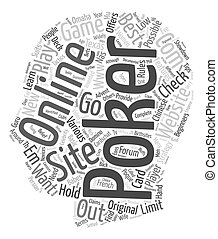 best online poker site text background wordcloud concept