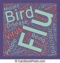 Bird Flu and You How Will The Flu Affect You text background wordcloud concept