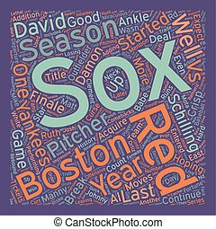 Boston Red Sox Preview text background wordcloud concept