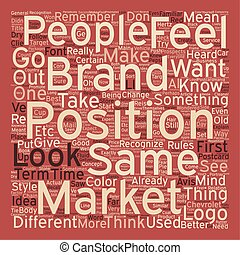 Brand Your Business text background wordcloud concept