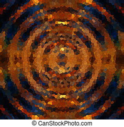 abstract multicolor circle mosaic pattern, computer graphic...