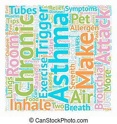 Breathe Easy Some Asthma Relief Tips text background wordcloud concept