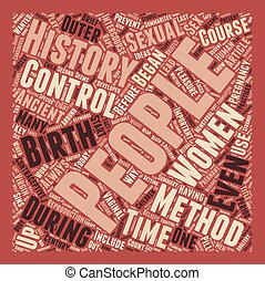 Brief History of Birth Control text background wordcloud...