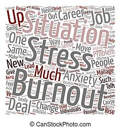 Burnout Move On And Rise Up text background wordcloud...