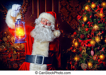 time for miracles - Christmas concept. Portrait of a...