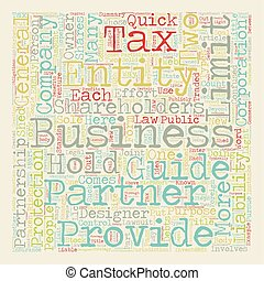 Business Entities A Quick Guide text background wordcloud...