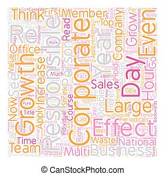 Business Growth Requires Individual Effectiveness text background wordcloud concept