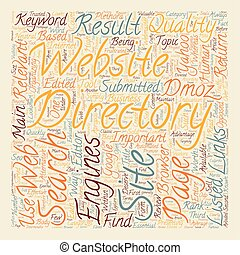 Business Web Directories text background wordcloud concept