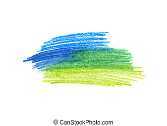 Abstract color hand drawn background for design - Abstract...