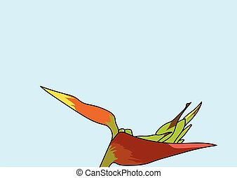 plant.eps - The orange flower with green pistil and stamen...