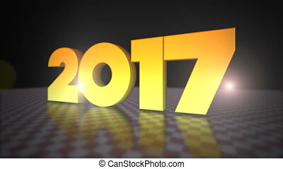 2017 3D Gold Text - Happy New Year 2017 3D Gold Text- 3D...