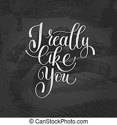 I Really Like You. Love Letter, Message Text English...