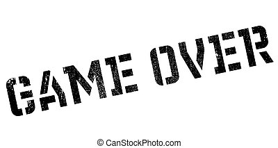 Game over rubber stamp. Grunge design with dust scratches....