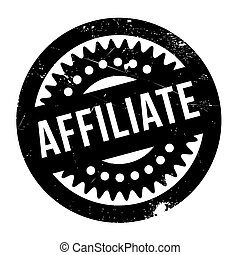 Affiliate rubber stamp - Affiliate stamp. Grunge design with...