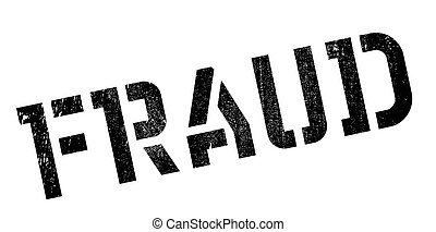Fraud rubber stamp. Grunge design with dust scratches....