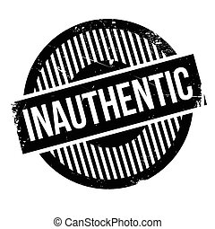 Inauthentic rubber stamp. Grunge design with dust scratches....