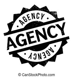 Agency rubber stamp - Agency stamp. Grunge design with dust...